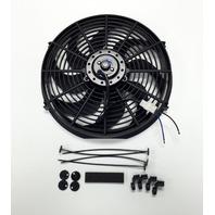 """14"""" Electric Radiator Cooling Fan Curved Blade 12V 2525 CFM"""