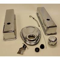 SBC CHEVY SMALL BLOCK ENGINE DRESS UP KIT TALL 283-350 SBC FLAME
