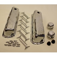CHROME SMALL BLOCK FORD ENGINE DRESS UP KIT FLAMED