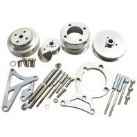 79-93 Ford Mustang GT LX 5.0L V8 Pulley & Bracket Kit Serpentine Billet Aluminum CNC