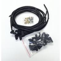 SBC Chevy V8 Universal Black 8.5 mm Spiral Core Spark Plug Wires W/90 Deg Boots