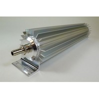 "Satin Aluminum Finned ""Single Pass"" Transmission Cooler - 12"""