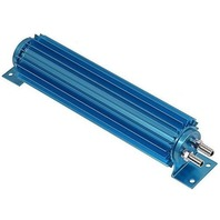 """Blue Aluminum Finned """"Dual Pass"""" Transmission Cooler - 12"""""""