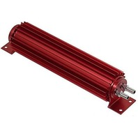 """Red Aluminum Finned """"Dual Pass"""" Transmission Cooler - 12"""""""