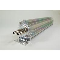 "Satin Aluminum Finned ""Dual Pass"" Transmission Cooler - 12"""