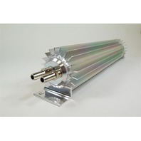"Satin Aluminum Finned ""Dual Pass"" Transmission Cooler - 24"""