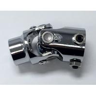"Forged Steel Chrome Universal Single Steering U-Joint 3/4"" DD x 9/16-26 Spline"