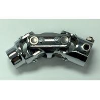 "Forged Steel Chrome Universal Double Steering U-Joint 3/4"" DD x 9/16-26 Spline"