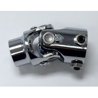 """Forged Steel Chrome Universal Single Steering U-Joint 1"""" DD x 3/4"""" Round"""