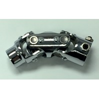 """Forged Steel Chrome Universal Double Steering U-Joint 1"""" DD x 3/4"""" Round"""