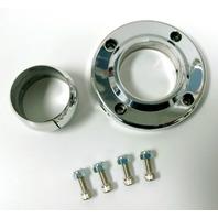 Hot Rod Polished Aluminum Steering Column Swivel Floor Mount For 2 Inch Columns