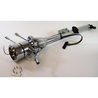 "Street Rod Chrome 28"" Tilt Steering Column With Ignition Column Shift"