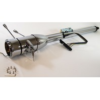 "Street Rod Chrome 28"" Tilt Steering Column With Ignition Floor Shift"