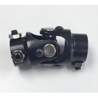 "Hot Rod Forged Steel Black Universal Single Steering U-Joint 1"" DD x 3/4"" DD"
