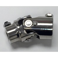 "Polished Stainless Steel Universal Single Steering U-Joint 3/4"" DD x 3/4"" DD"