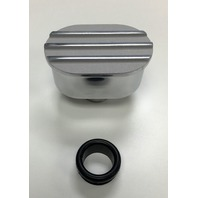 Hot Rod Oval W/ Polished Fins and Satin Top Valve Cover Breather W/ Grommet