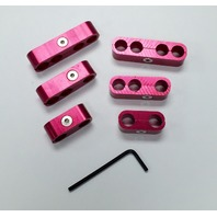 Hot Rod Red Billet Ignition Spark Plug Wire Looms Seperators 8-9mm