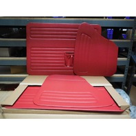VW BUG 56-64 TMI  DOOR PANEL SET W/POCKETS,4-PC SET,BRIGHT RED 10-1127-957