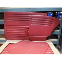 VW BUG 65-66 TMI  DOOR PANEL SET W/POCKETS,4-PC SET,RED 10-1128-17