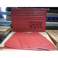 VW BUG 68-78 TMI  DOOR PANEL SET W/POCKETS,4-PC SET, RED 10-1129-17
