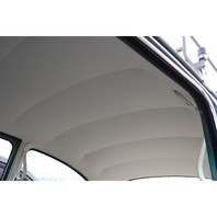 HEADLINER, 1947-67 VOLKSWAGEN BEETLE BUG TYPE 1 SEDAN, OFF-WHITE PERFORATED VINYL