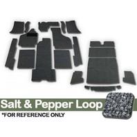 DELUXE CARPET KIT, 20PC W/ FOOTREST, 69-74 GHIA, SALT/PEPPER LOOP