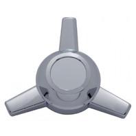 3 Bar Straight Chrome Plastic Spinner for Hub Cap For Cars Trucks, Each