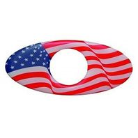 American Flag Glossy Keyhole Guard with Oval Design Set