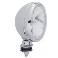 "6"" Round Off Road Chrome Rim Halogen Tear Drop Work Spot Light / 55 Watt / 12V"