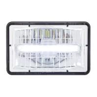 "High Power LED 4"" X 6"" Rectangular Low Beam Headlight w/ Daytime Running Light"