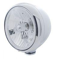 "UPI 31787 Chrome Classic ""Guide"" Headlight - Crystal H4 Halogen Bulb -31387"
