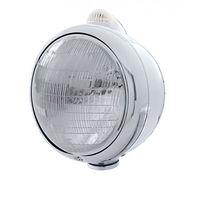 UPI 32391 Stainless  GUIDE  Headlight - 6014 Bulb w/ Amber LED/Clear Lens