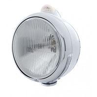 UPI 32405 Chrome  GUIDE  Headlight - H4 Bulb Dual Function Amber LED/Clear Lens