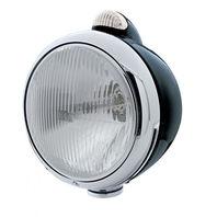 UPI 32415 Black  GUIDE  Headlight - H4 Bulb w/Dual Function Amber LED/Clear Lens