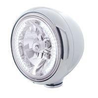 "UPI 32420 Stainless Steel Classic ""Guide"" Headlight W/ 34 White LED Halogen"