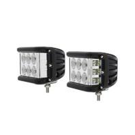 9 High Power Led Driving/Work Light With Side Led - Spot/Flood Light, Set