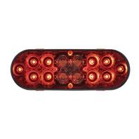 "6"" Oval Combo Light with 14 LED S/T/T Light & 16 LED Back-Up Light - Red Lens"