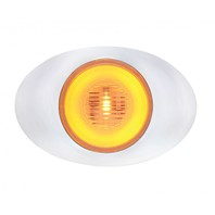 "5 LED ""M3 Millennium"" Clearance/Marker Light - GLO Light - Amber LED w/ Clear Lens"