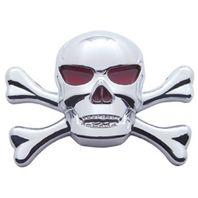 Chrome Plastic Skull Accent Universal Fit