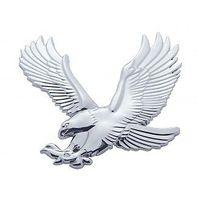 Chrome Plastic Eagle Accent Facing Left Universal Fit