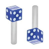 Hot Rod Dice Door Lock Pulls Blue with White Dots 2 Piece Set