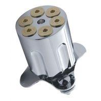 Hot Rod Chrome Billet Gun Barrel 6 Shooter Brody Knob Steering Wheel Spinner
