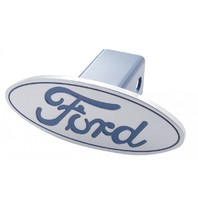 Ford Pick Up Truck Billet Aluminum Oval Logo Trailer Hitch Receiver Cover Blue