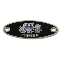 1933-39 Body By Fisher Body Tag Emblem, Classic Car, GM, Street Rod, Each