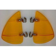 Vintage Style Amber Accessory Vent Wing Air Deflector Breeze Breezies Pair