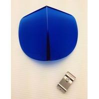 Vintage Style Blue Hood BI-FLECTOR Windshield Reflector