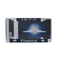 1973 Pontiac Firebird Chrome License Plate Frame with 4 Hole Mount