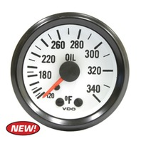 Oil Temp Gauge, 120-340F - VW Dune Buggy Baja Bug EMPI VDO V180208