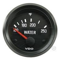 VW BUG AIR COOLED, VDO COCKPIT WATER TEMP GAUGE 250 DEGREE 310039