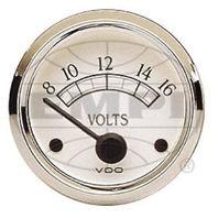 VW BUG AIR COOLED, VDO COCKPIT ROYAL VOLTMETER GAUGE 8-16 VOLTS 332702